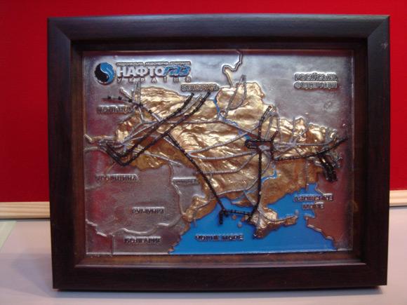 Форма карты Нафтогаз - гальванопластика