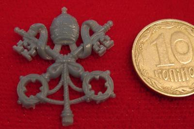 Герб Ватикана восковая модель