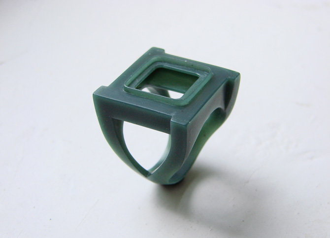 Внешний вид каста восковой модели ювелирного кольца