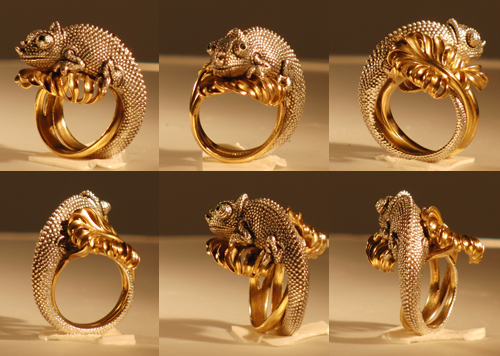 Восковая модель кольцо Хамелеон внешний вид