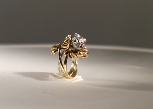 Восковая модель кольцо Хамелеон
