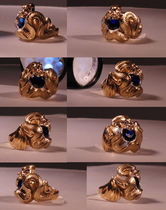 Изготовление индивидуальных ювелирных моделей кольца Дракон