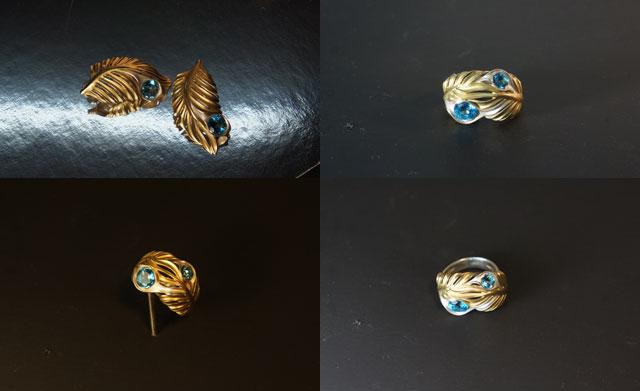 Изготовление индивидуальных ювелирных моделей ювелирного набора Пальма