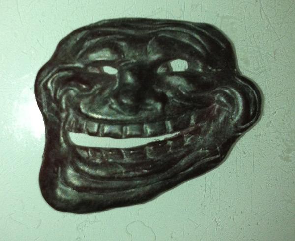 Восковая модель Troll Face