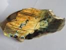 """Скульптурная композиция """"Рыба"""" на подарок с металлическими декоративными вставками."""